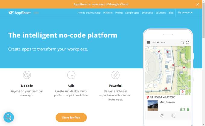AppSheetトップページ