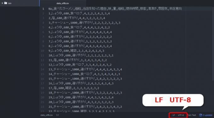 エクセルVBAで出力したUTF-8のCSVファイル