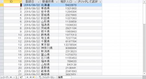 エクセルVBAでAccessテーブルに複数レコードを追加