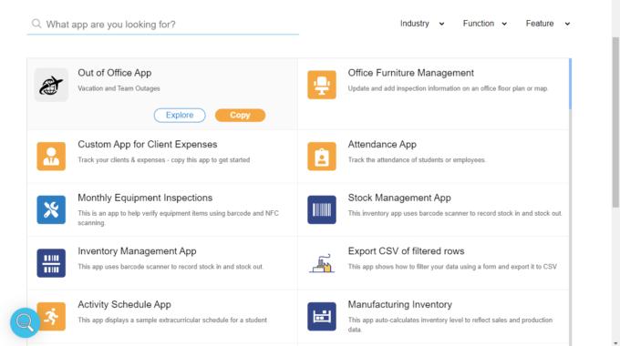 AppSheetのサンプルアプリ