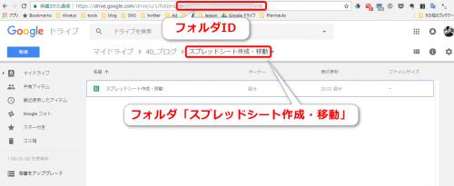 GoogleドライブのフォルダID