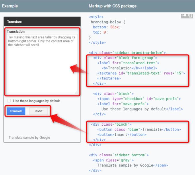 サイドバー用CSSパッケージでdivタグを使ってclassを指定する
