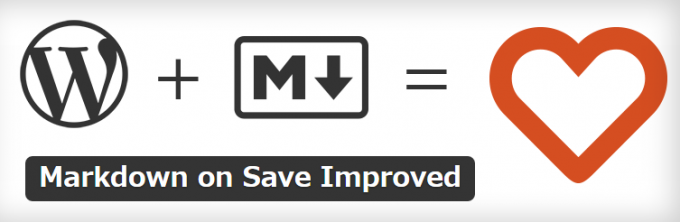 WordPressプラグインMarkdown on Save Improved