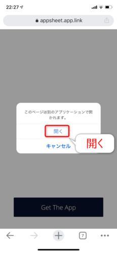 Installをタップして別のアプリケーションで開く