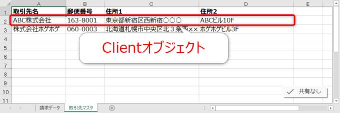 Clientオブジェクト