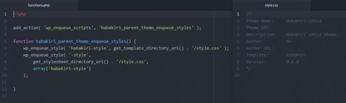 WordPress子テーマのfunction.phpとstyle.css
