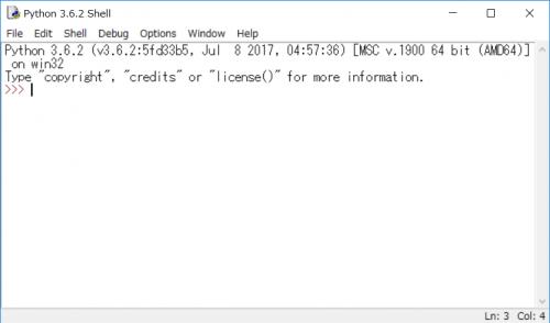 IDLEのウィンドウサイズの初期値を変更した