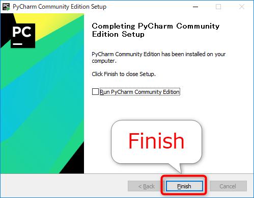 PyCharmのセットアップ完了