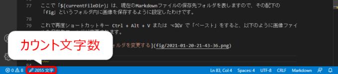 070-拡張機能CharacterCountによる文字数カウント