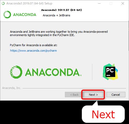 AnacondaとJetBrains