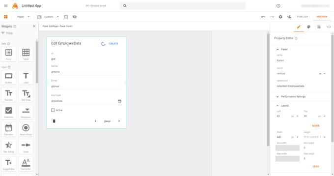 App Makerでページに編集用のフォームを追加した