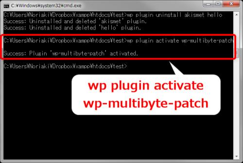 WP-CLIでプラグインを有効化