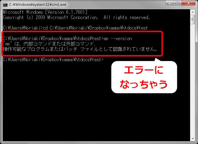 WP-CLIが実行できない