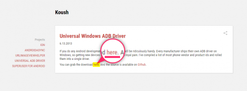 ADB Drivers ダウンロード