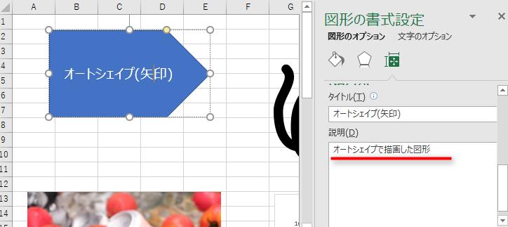 vba,excel,shape,object,代替テキスト,説明