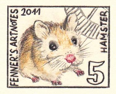 ハムスターの切手