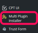 MultiPlugin Installerボタン