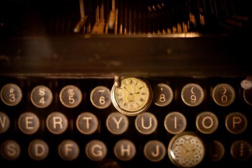 時計とタイプライター