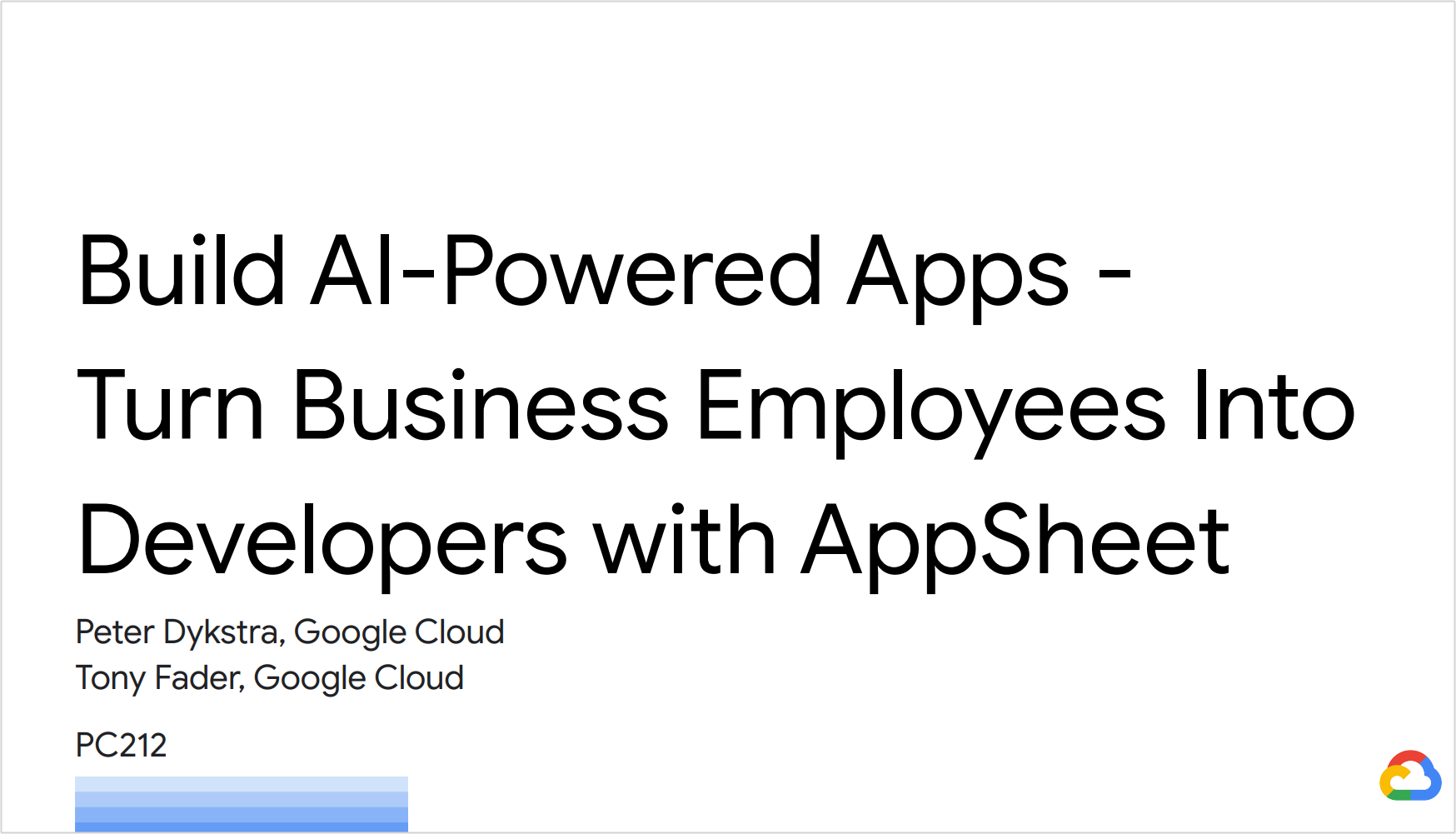 Build AI-Powered Apps - Turn Business Employees Into Developers with AppSheet
