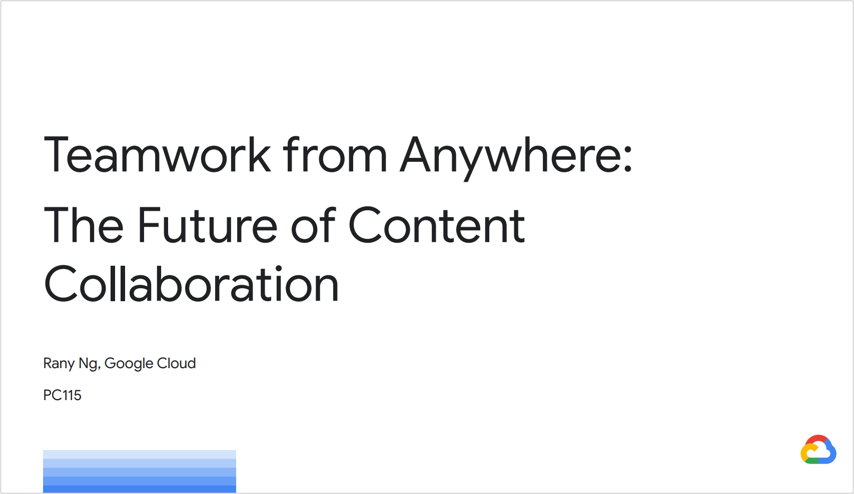 Teamwork from Anywhere: G Suite's Vision for Content Collaboration