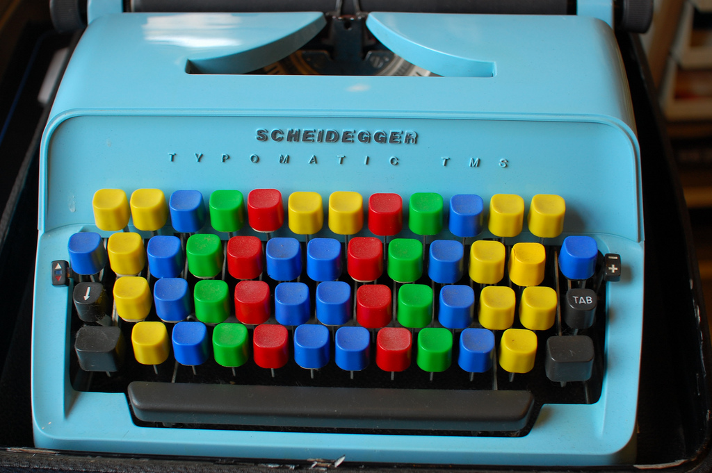 colorfulなタイプライター