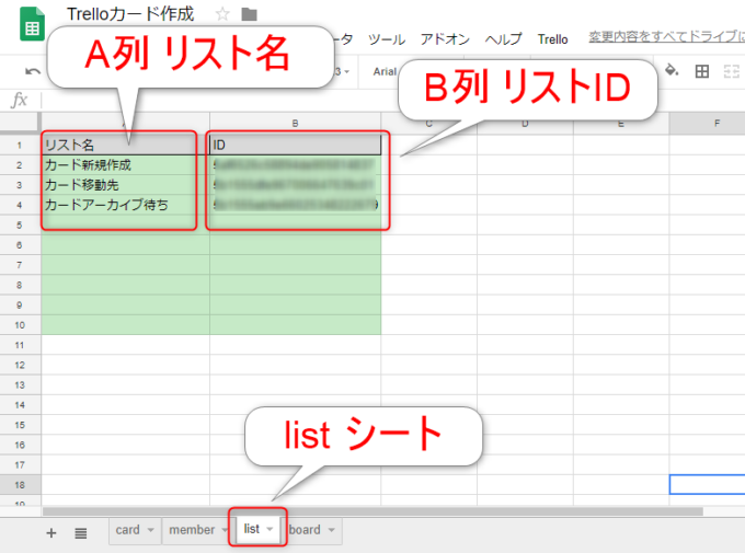 リスト情報