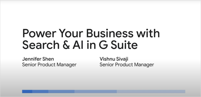 Power Your Business with Search & AI in G Suite