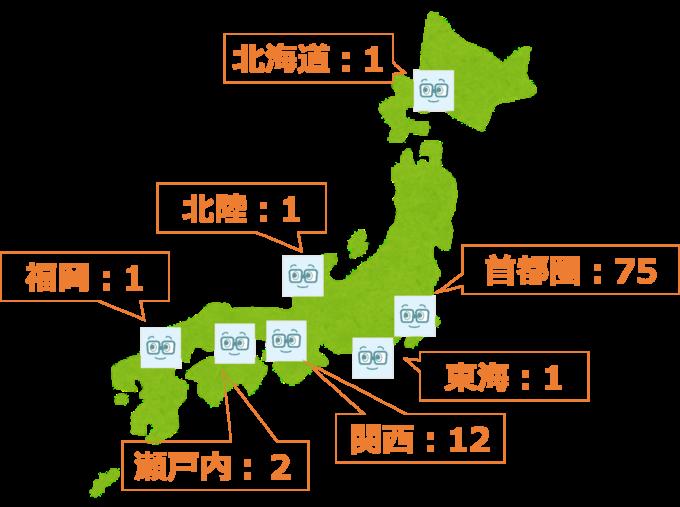 ノンプロ研エリア別メンバー数