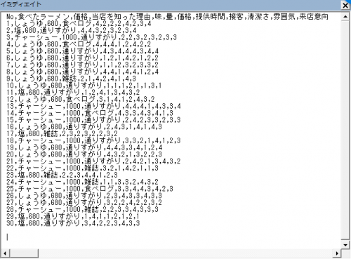 CSVファイルをエクセルVBAで読み込んだ
