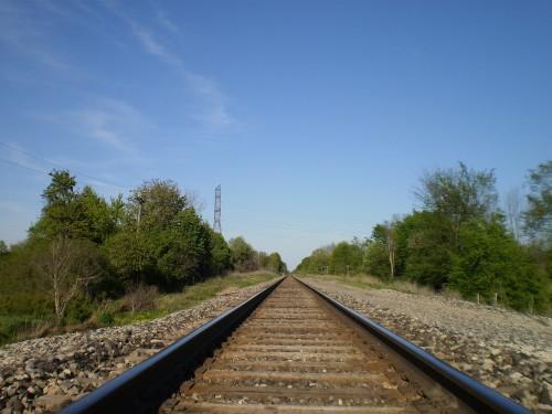 まっすぐな線路