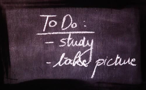 黒板にTo Do